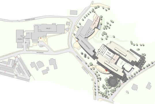 Der Sonnberghof, Lageplan