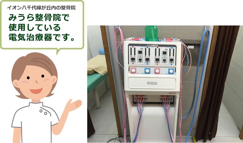 八千代市のみうら接骨院で使用している電気治療器です。
