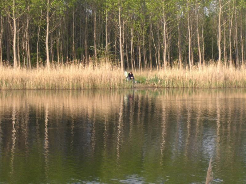 Ein einsamer Angler unserer Gruppe