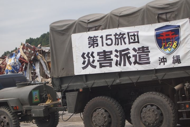 沖縄からの派遣車両!頼もしいです。