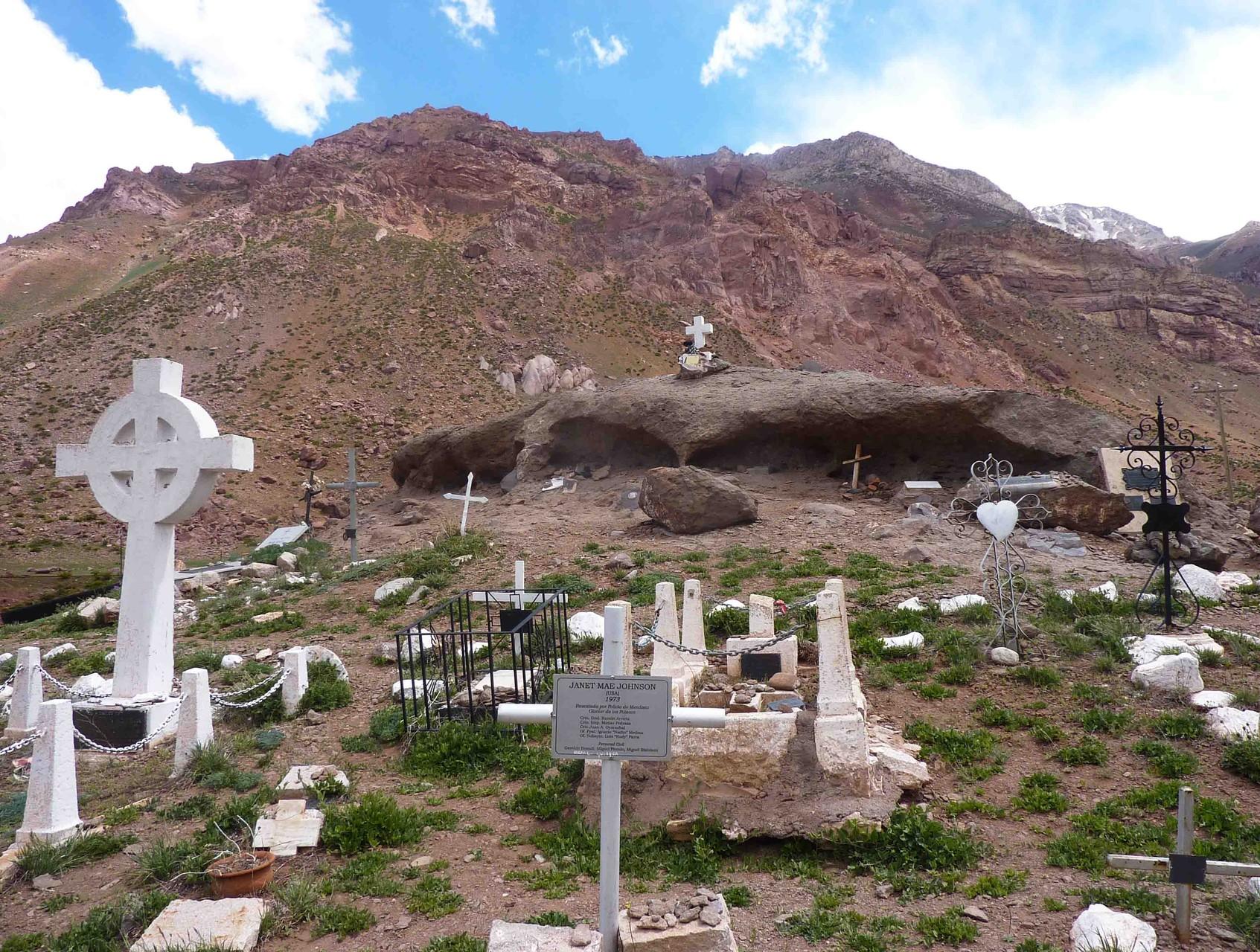 Cimetière des andinistes... quelques montagnards victimes de l'Aconcagua
