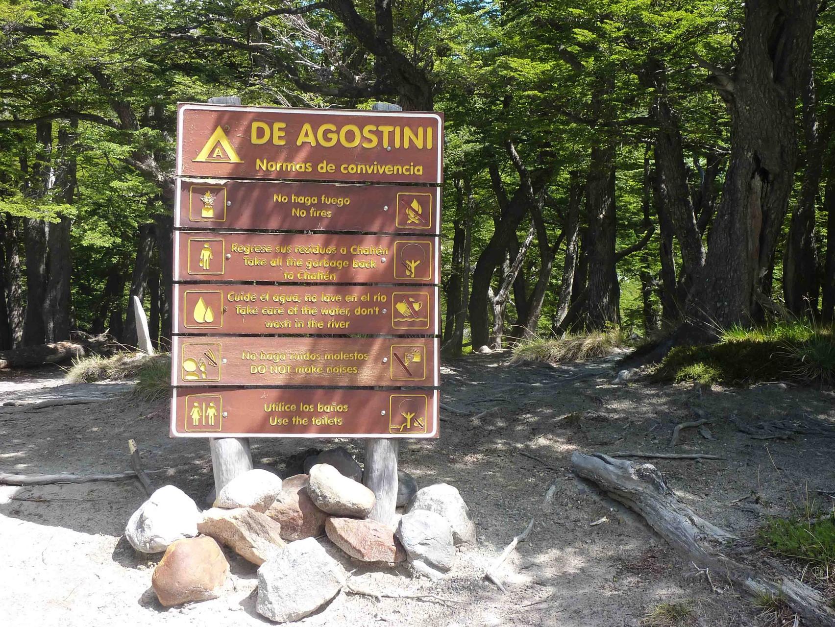 Arrivée au bivouac, le camp Alberto De Agostini