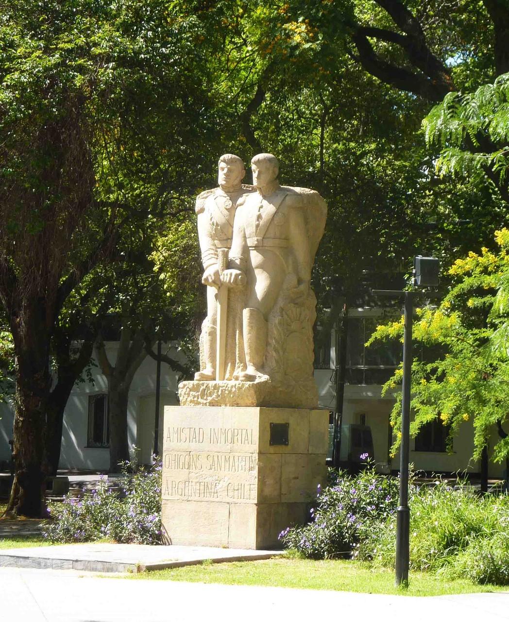 Le général argentin José de San Martin, libérateur du Chili, ici avec l'officier chilien Bernardo O'Higgins Riquelme