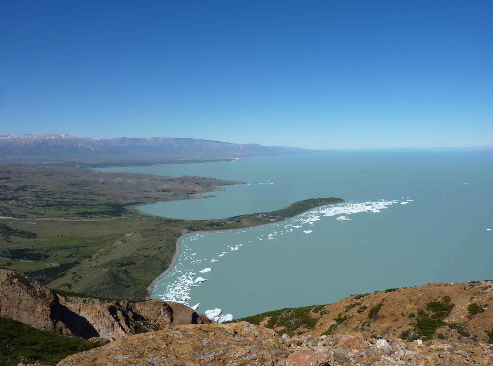 Le lac Viedma depuis le Paso Huemul