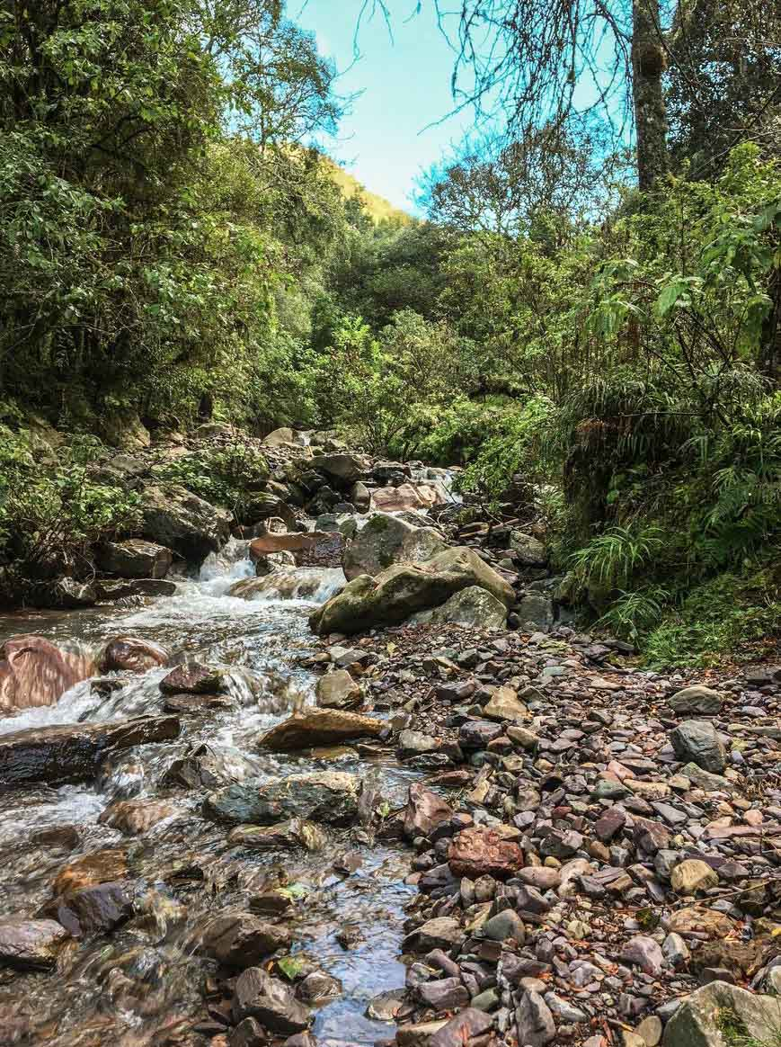 Quelques passages de torrent dans la quebrada de San Lorenzo