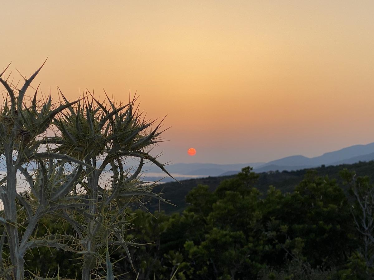 Schön: Sonnenuntergang am West Pilion