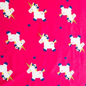 Baby-Einhörner   Jersey 95% Baumwolle, 5% Elasthan  pink