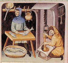 Préparation du poisson - www.chateau-de-cherveux.com