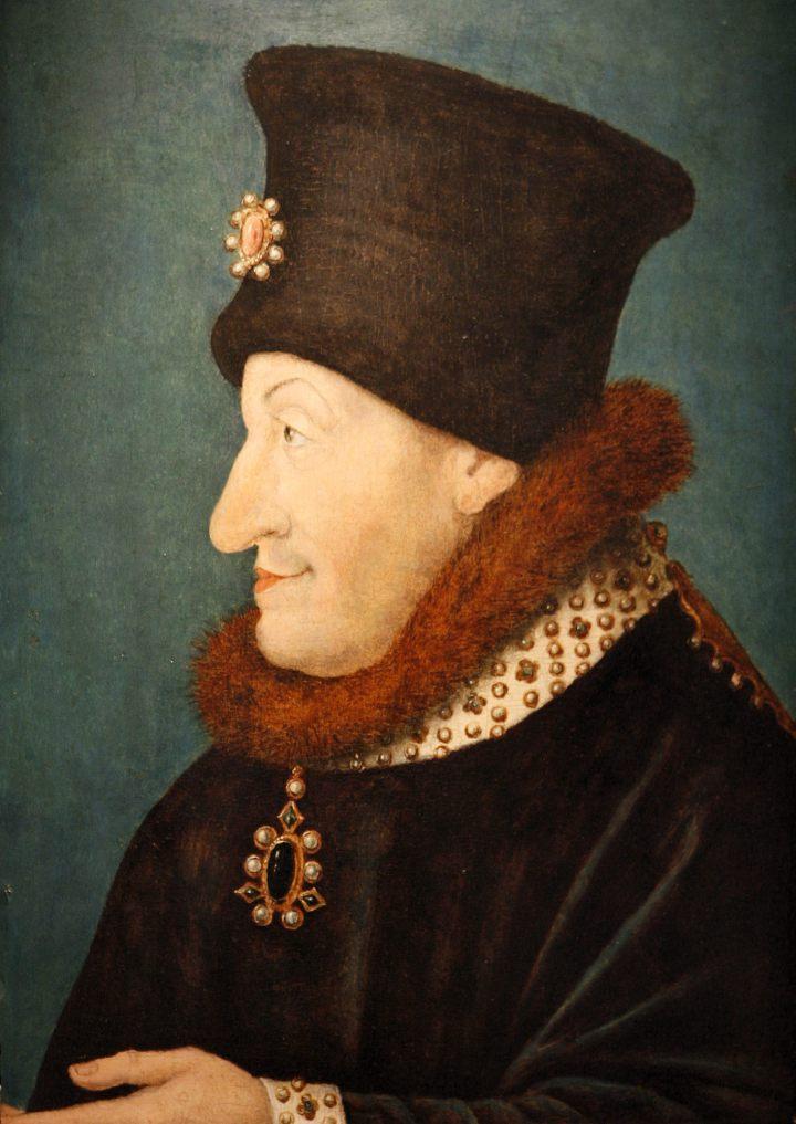 Philippe II le Hardi, duc de Bourgogne. Il interdit sur ses terres la culture du gamay, plus productif et rentable, au profit du pinot noir, de meilleure qualité - Ordonnance de 1395 - Fin du 14e siècle, musée des beaux-arts de Dijon.