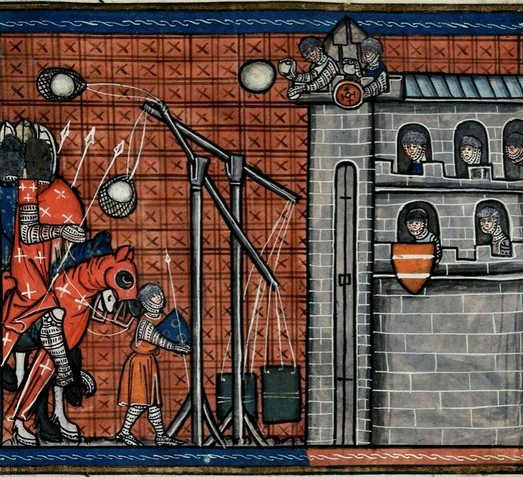 Siège de la Rochelle en 1224, utilisation de trébuchets