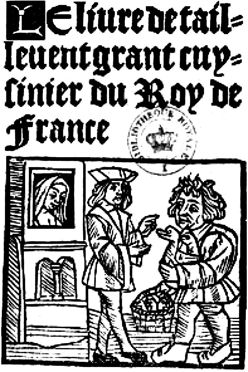 Page de garde du Viandier, de Taillevent, XVIe siècle