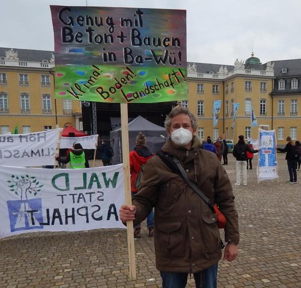 Klimastreik und Bodenthema zusammen - in KA mit Bühne, Abstand, Maske 19.3.21