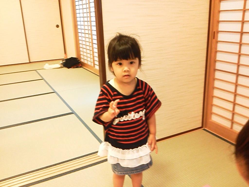 2012年7月 ママのトレーニングをお手伝いしてくれるかりんちゃん。