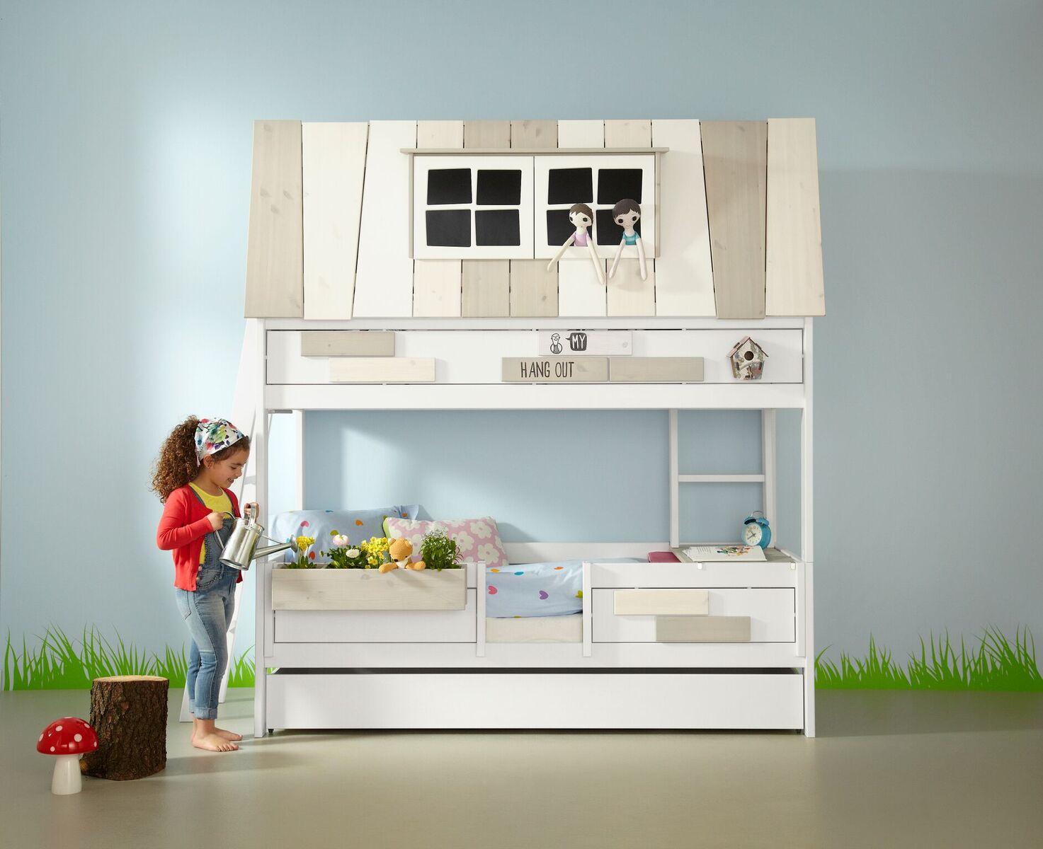 Haus Bett Etagenbett : Halbhohes kinderhochbett mobelhaus cebu moebelhaus berlin owner
