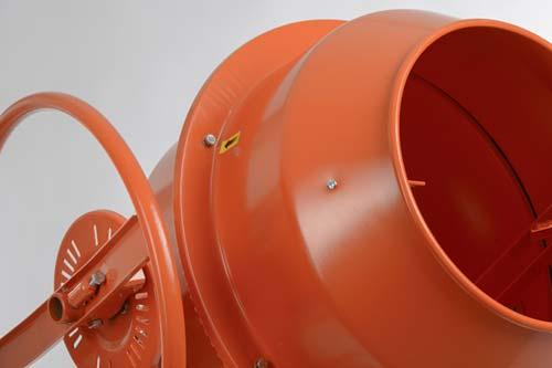 Betonmischer, orange, trommel