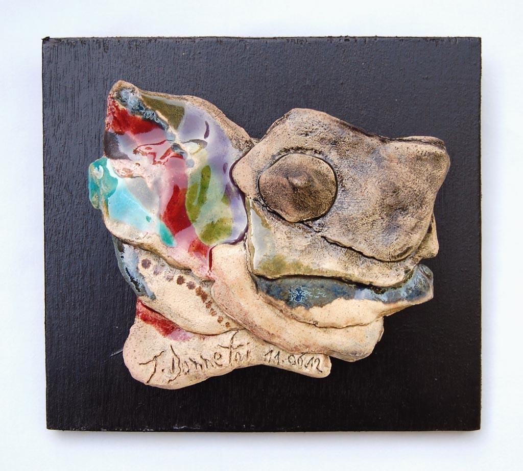 Opus 39 - 2012 - L 14 x H 11,5 cm (L 17 x 15 cm avec cadre) - Faïence