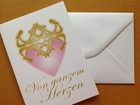 Lebendiger Schlüssel für persönliche Dankes-Briefkarten  © Susanne Barth. Mehr Inspirationen www.aus-liebe-im-leben.de
