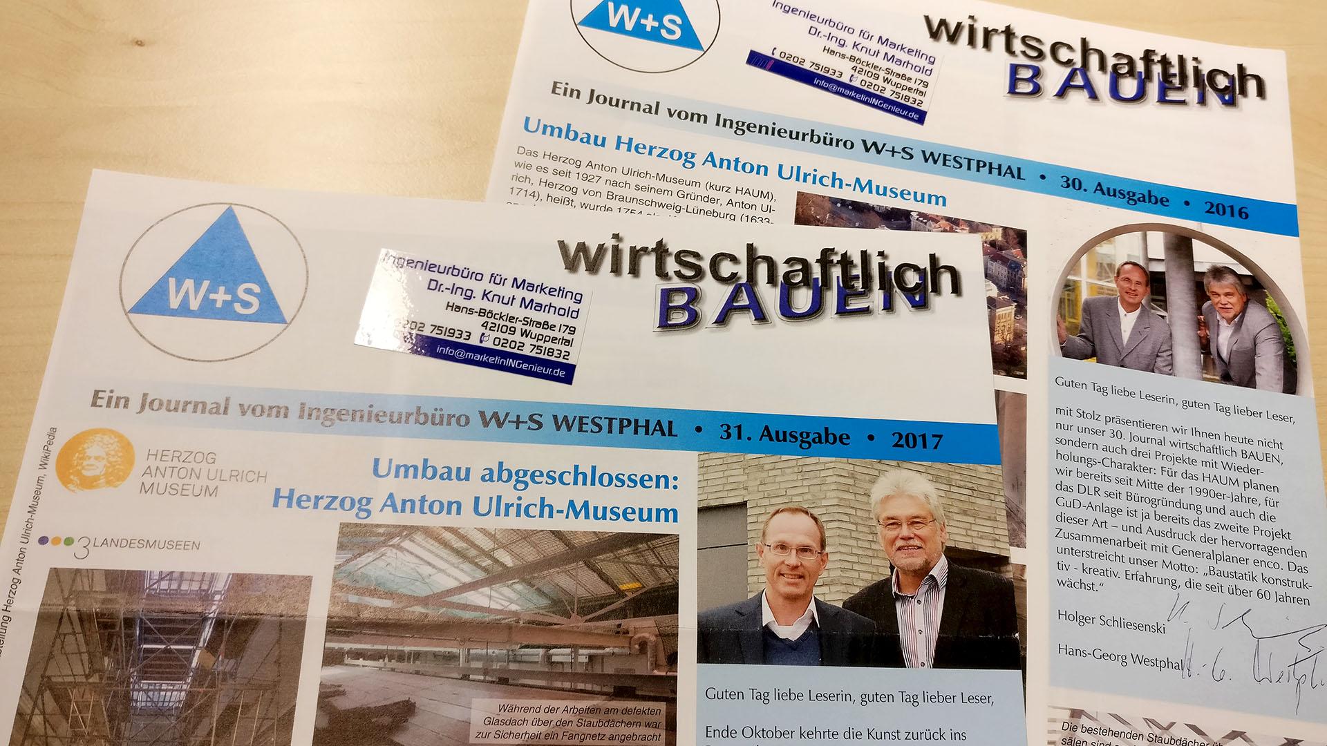 KundenJournal W+S WESTPHAL Ingenieurbüro für Bautechnik - wirtschaftlich BAUEN