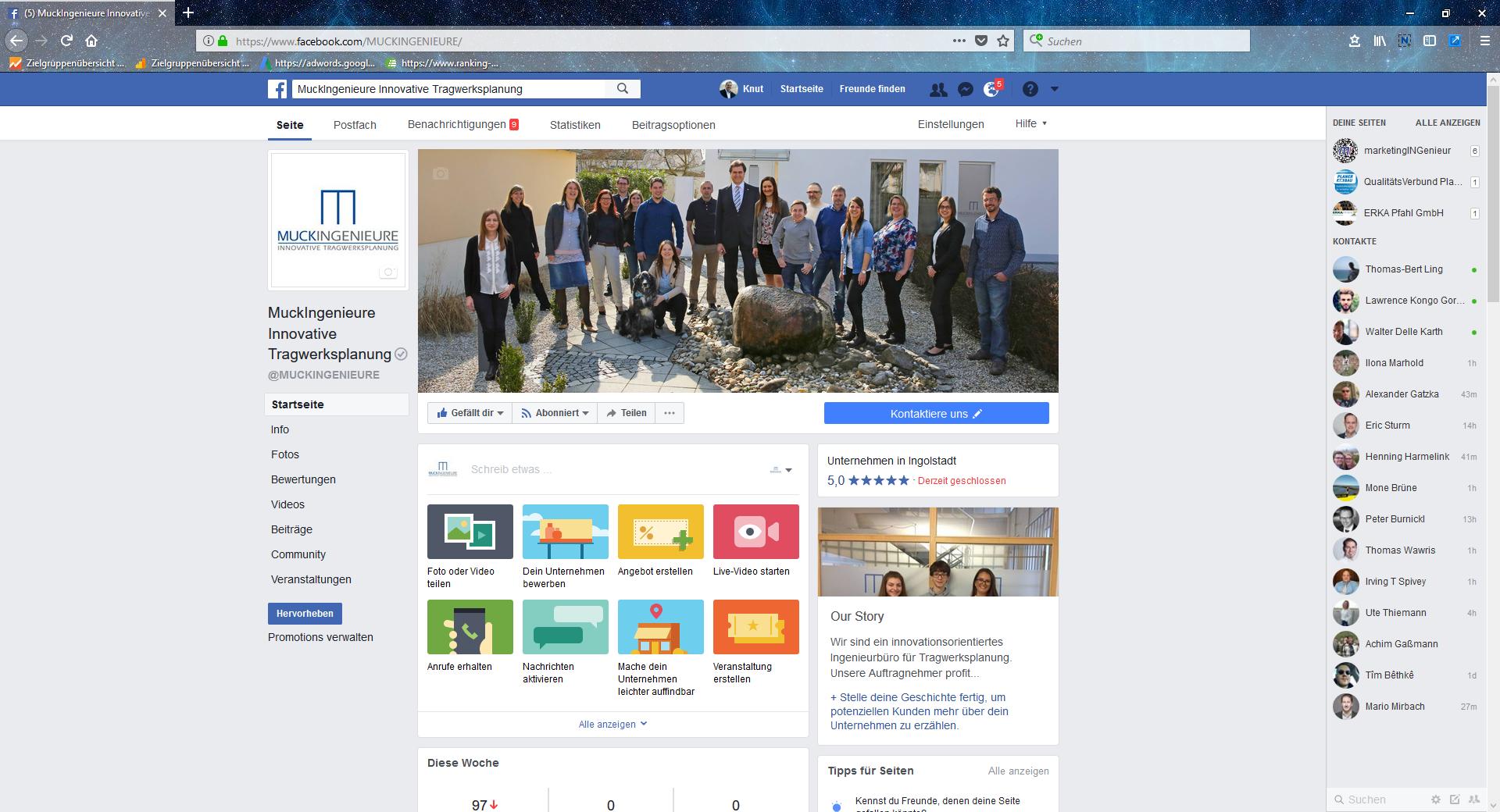 Facebook-Seite MUCKINGENIEURE