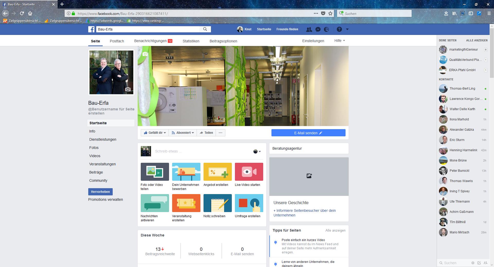 Facebook-Seite ERFAhrungsaustausch-Arbeitskreise Planer am Bau