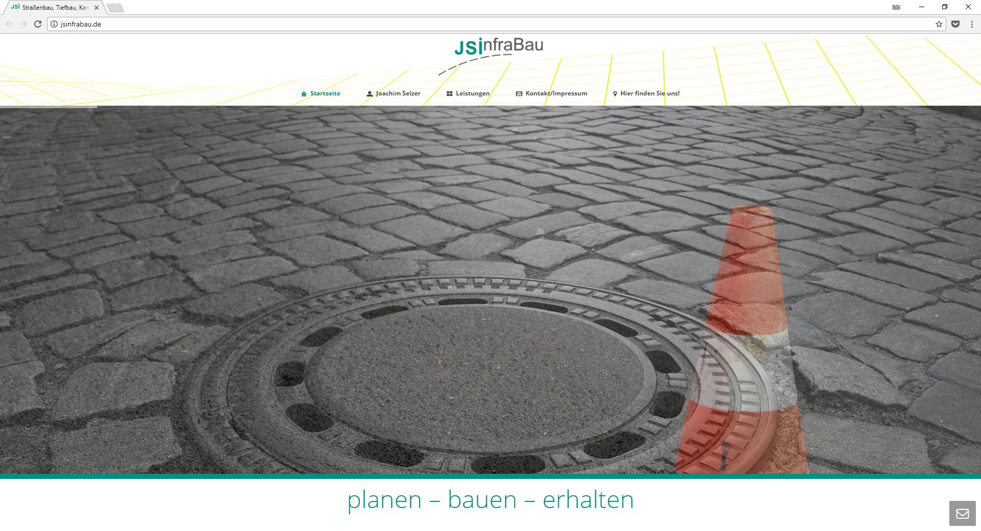Internetseite JS Infrabau