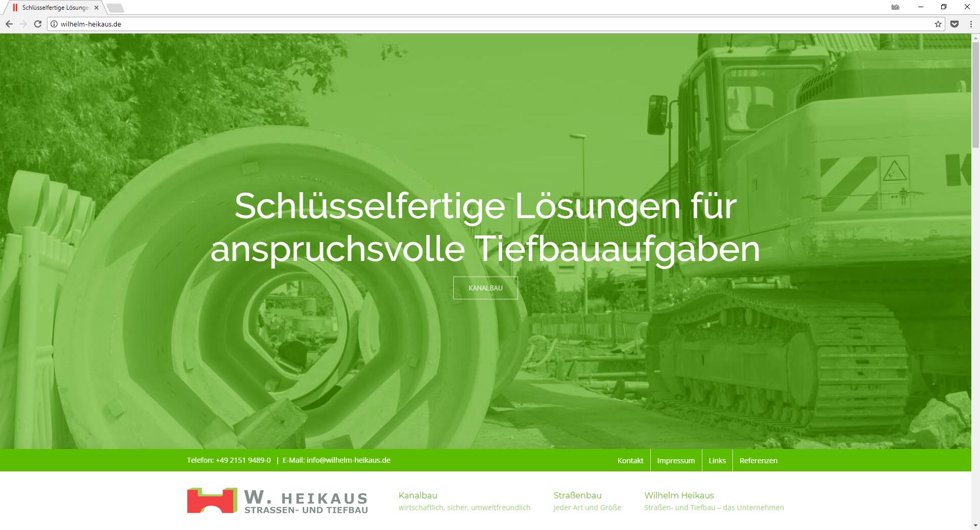 Internetseite Wilhelm Heikaus Straßen- und Tiefbau