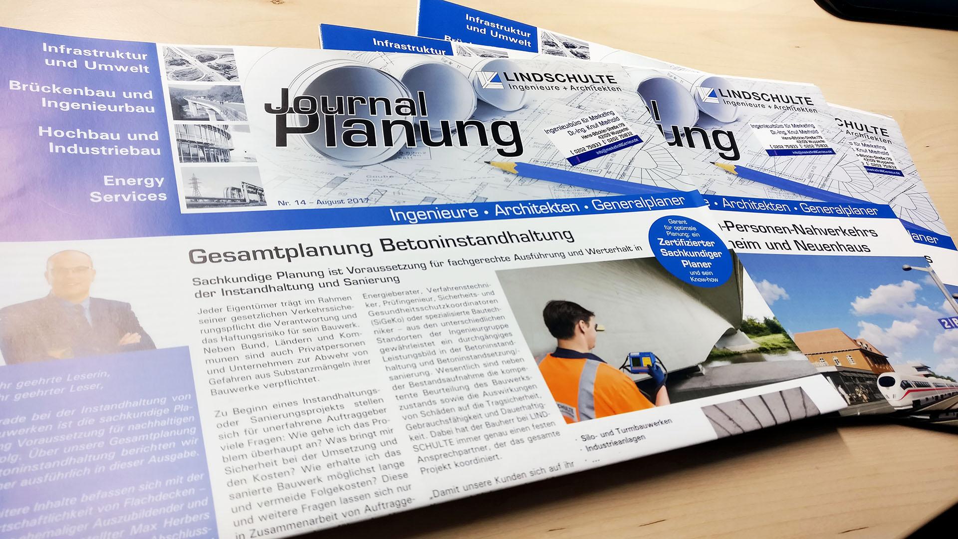 Kundenzeitung LINDSCHULTE Ingenieure + Architekten - Journal Planung