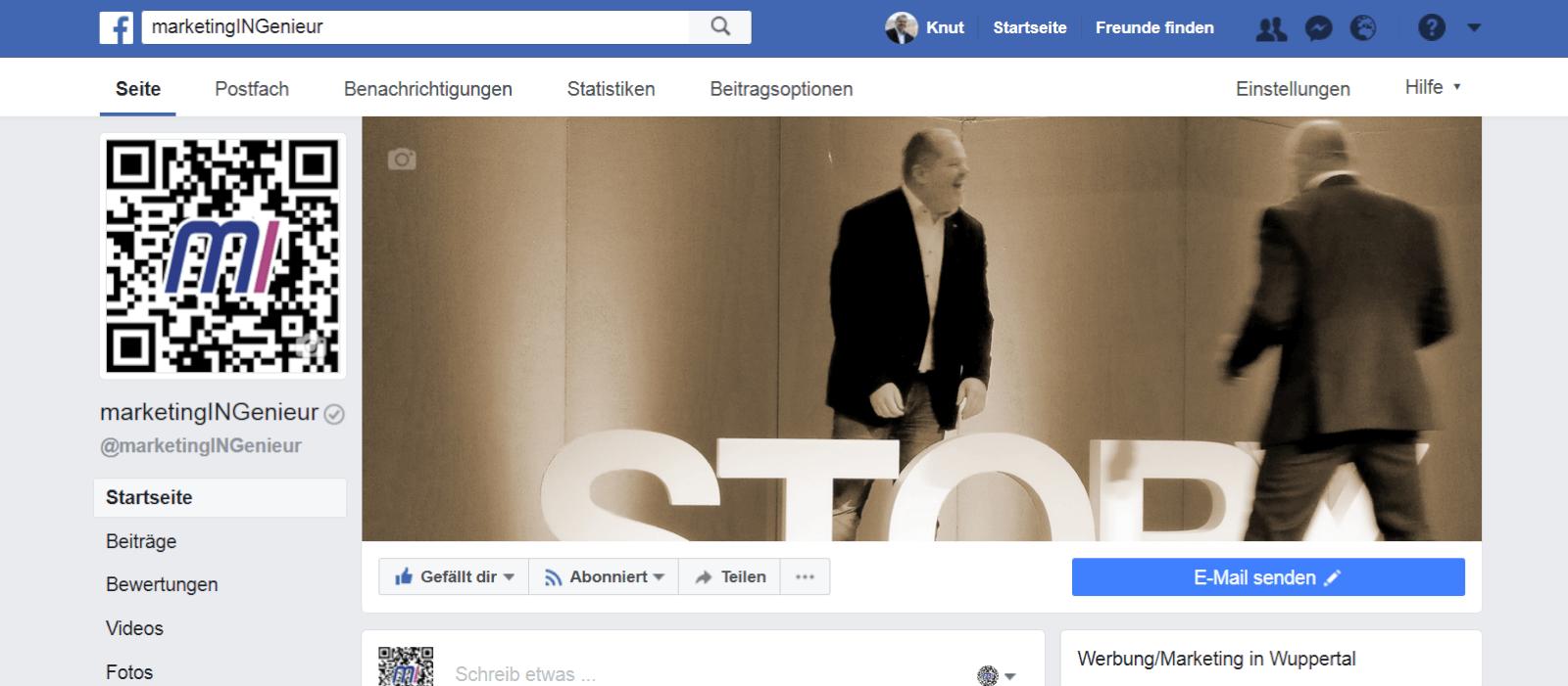 Facebook-Seite marketingINGenieur