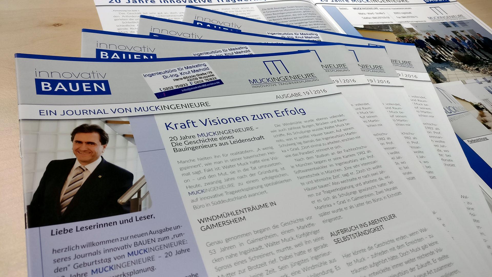 KundenJournal MUCKINGENIEURE Innovative Tragwerksplanung - innovativ BAUEN