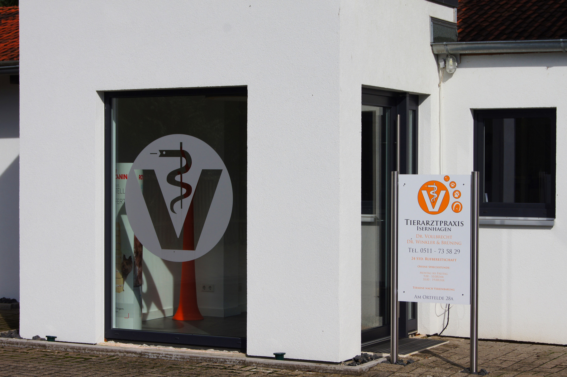 Tierarztpraxis Isernhagen -Eingang