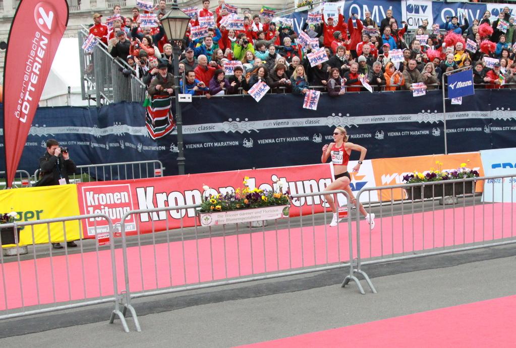 Zieleinlauf Paula Radcliffe