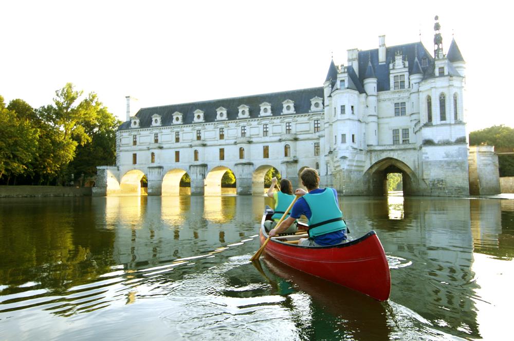 Canoe sous Chenonceau à 2 km du gîte @JF Souchard