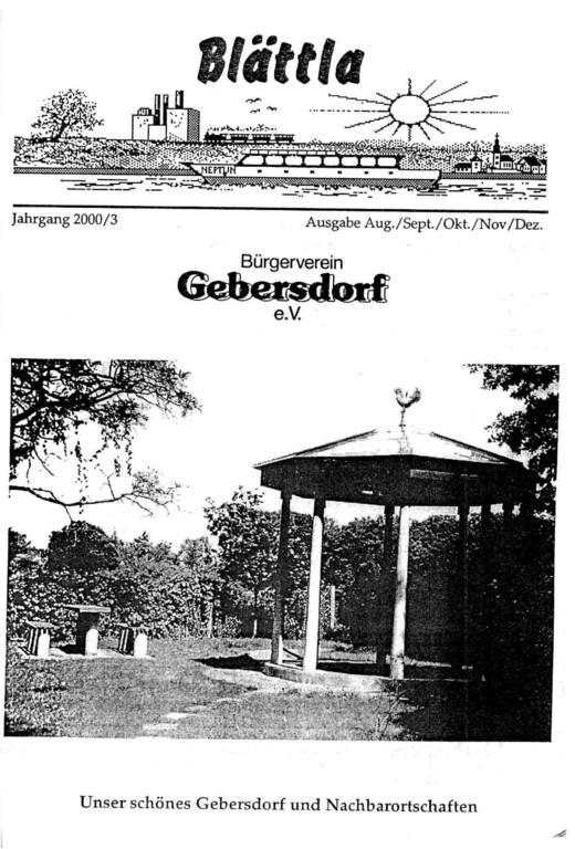 Blättla des BV Gebersdorf 2000/3