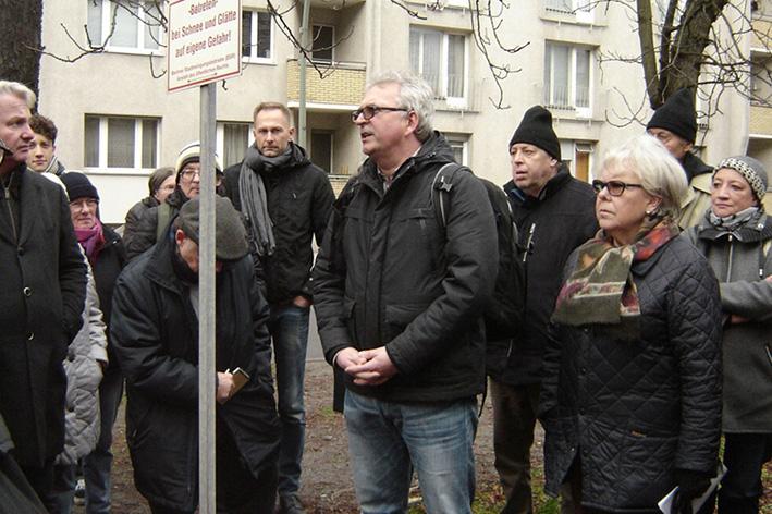 Begehung der Kastanien Allee in der Levetzowstrasse im November 2017