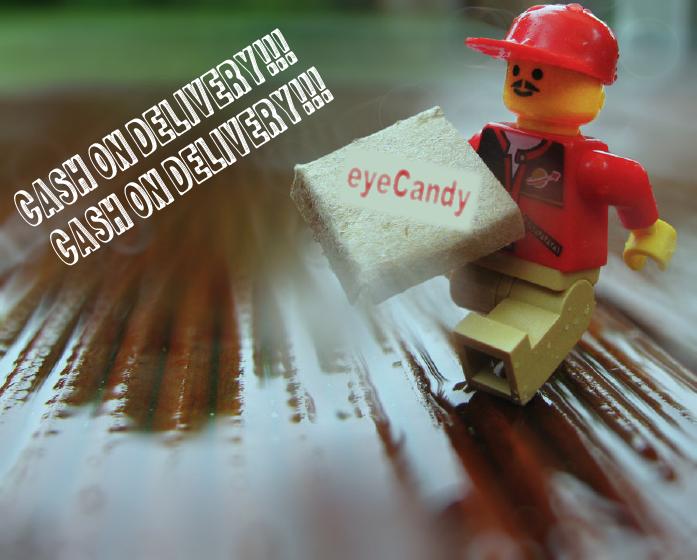 eyecandy  アイキャンディ チョークバッグ ハンドメイド 代金引換