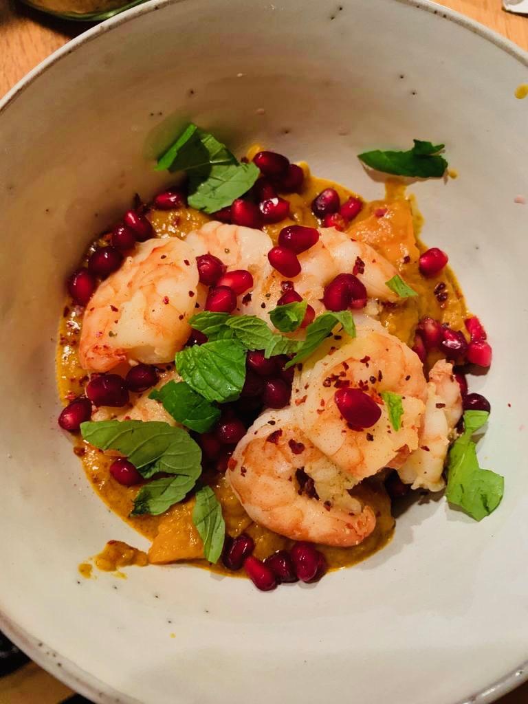 Luxus-Resteverwertung: Mittagscurry-Rest am Abend mit Garnelen