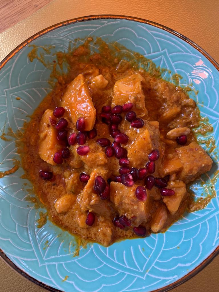Süßkartoffel-Kürbis Curry