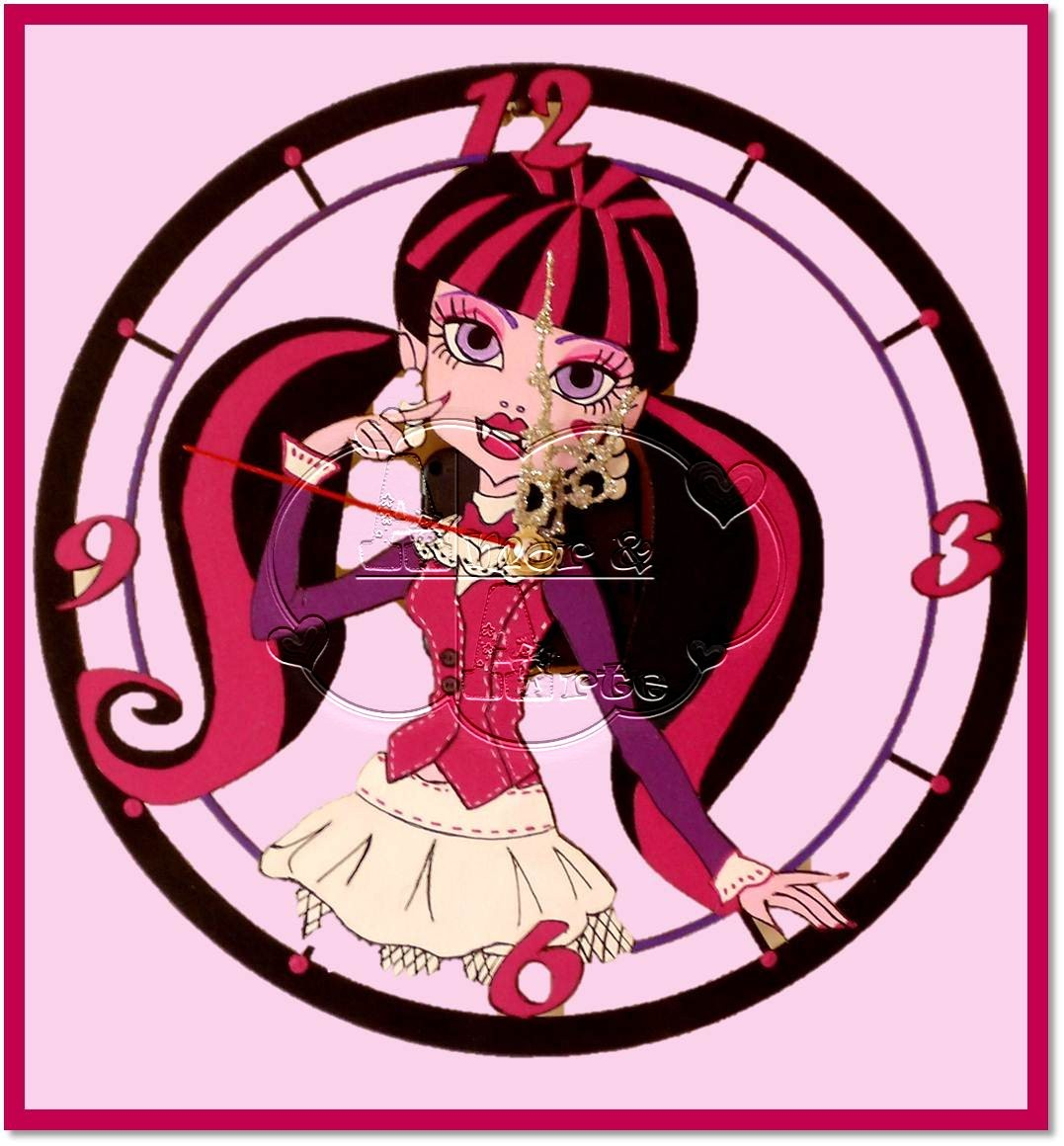 RELOJ CIRCULAR MONSTER HIGH