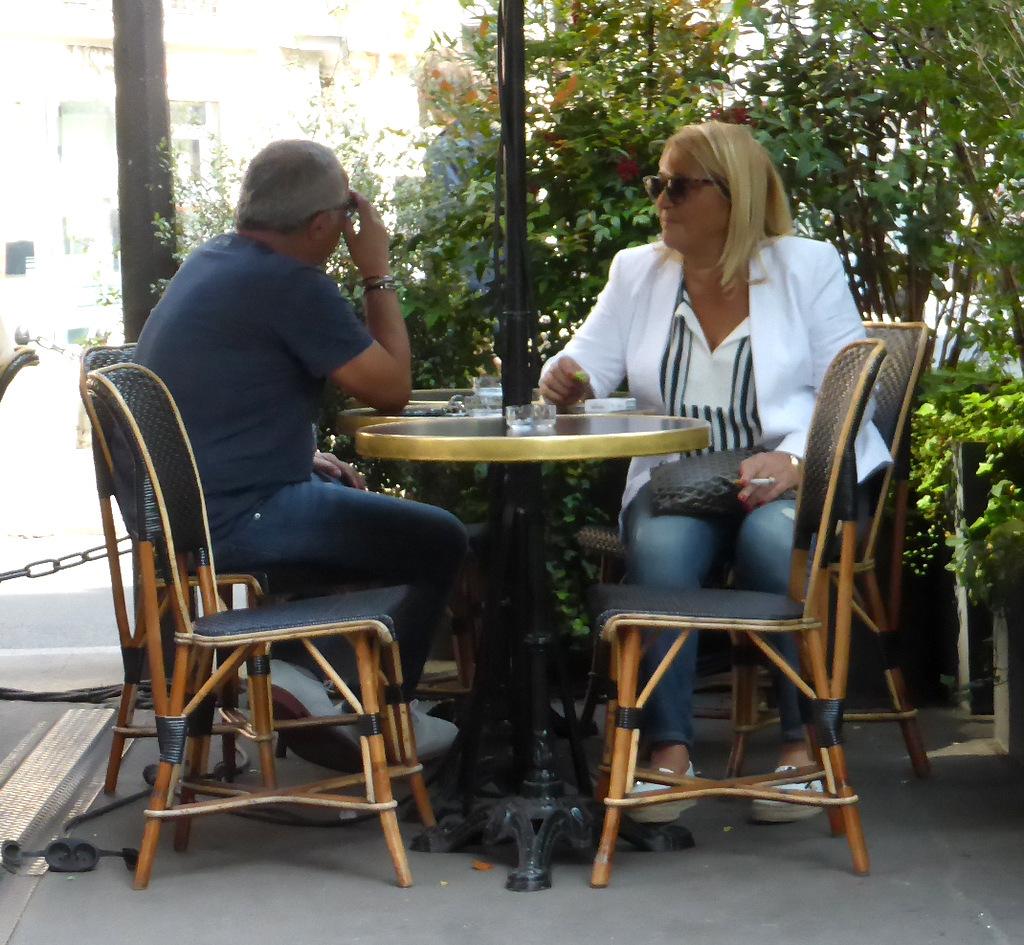 Rue de l'Odéon - ....und das weniger noble Eigentümerpaar