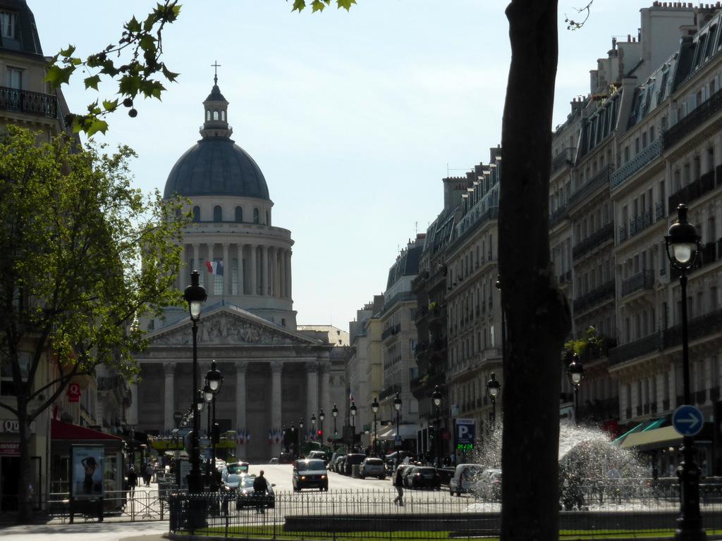 Ein Blick zurück auf das Pantheon