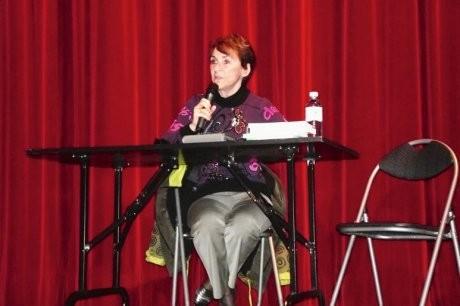 Sophie Daout lors de son intervention. photo j.r. v.