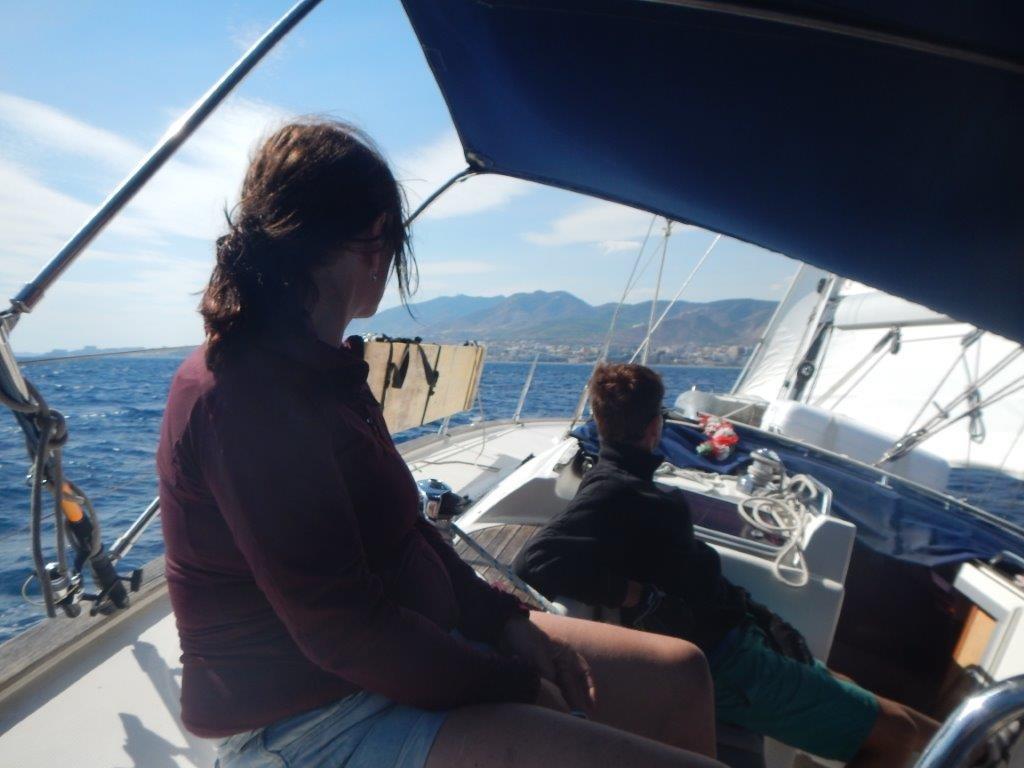 Wir segeln auf Malaga zu da endet ein sehr schöner Segeltörn