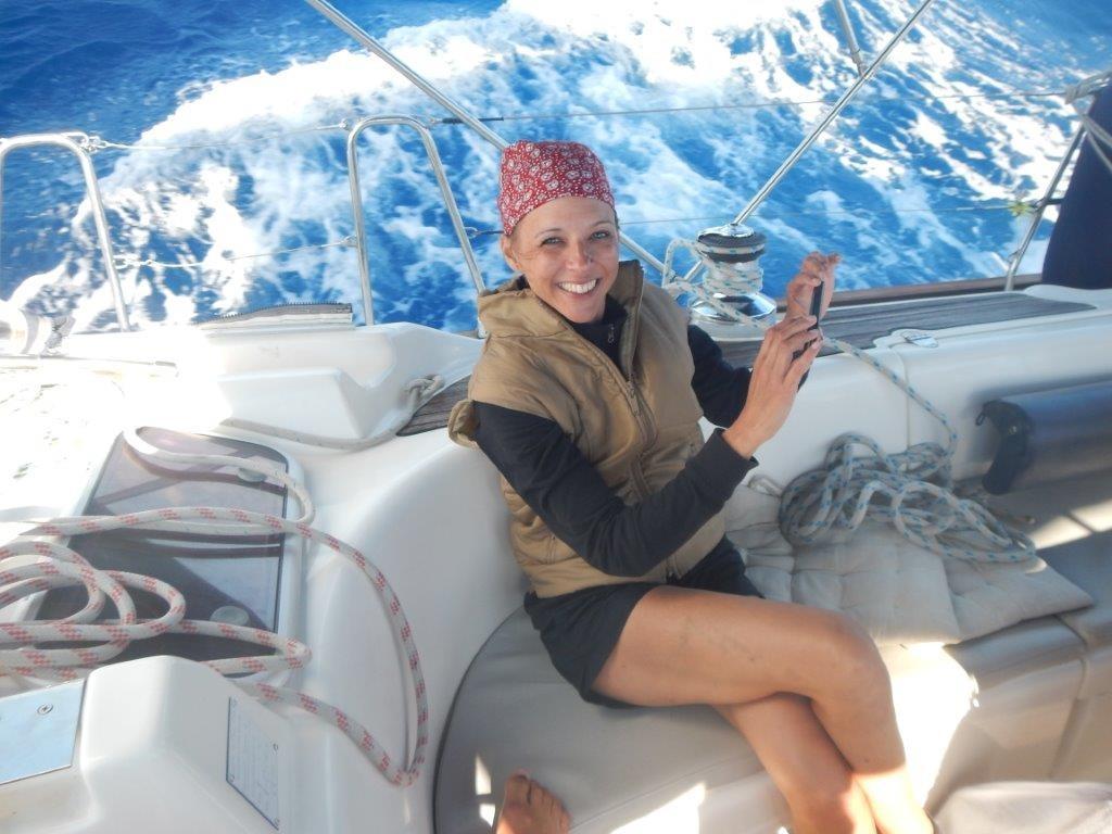 charming Kristina als Gast an Bord