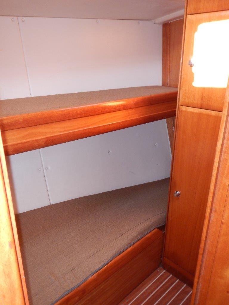 Die Stockbettenkojen sind bei Singles und Alleinreisende sehr beliebt und mit 70 x 203 m Länge auch komfortabel