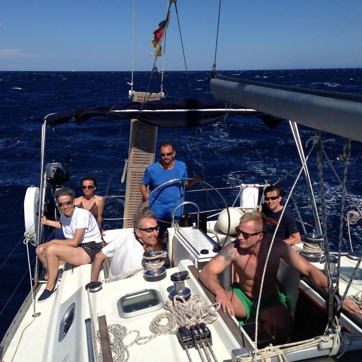 Viel Wind auf dem Segeltörn zwischen Korsika und Sardinien