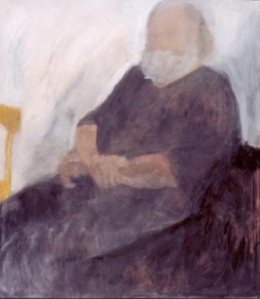"Eva Hradil ""Otto Lorenz"" 2003, Öl auf LW, 140 x 130 cm, Privatbesitz"