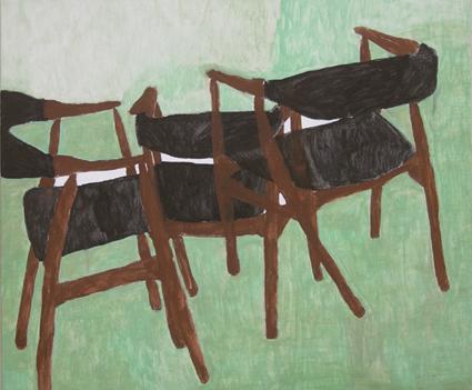"Eva Hradil ""Frühling"" 2009 Eitempera/HKG/LW 110 x 130 cm"