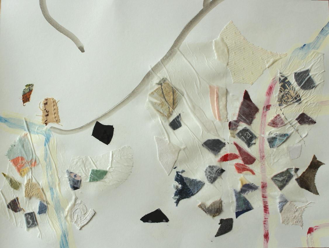 """Eva Hradil """"separate together"""" 2017-2018, A3-großes Teil eines 150 x 250 cm großen Werkes, an welchem mehrere KünstlerInnen mitwirken"""
