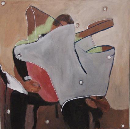 """Eva Hradil """"Musikgebilde"""" 2006-2014, öl /LW 130 x 130 cm"""