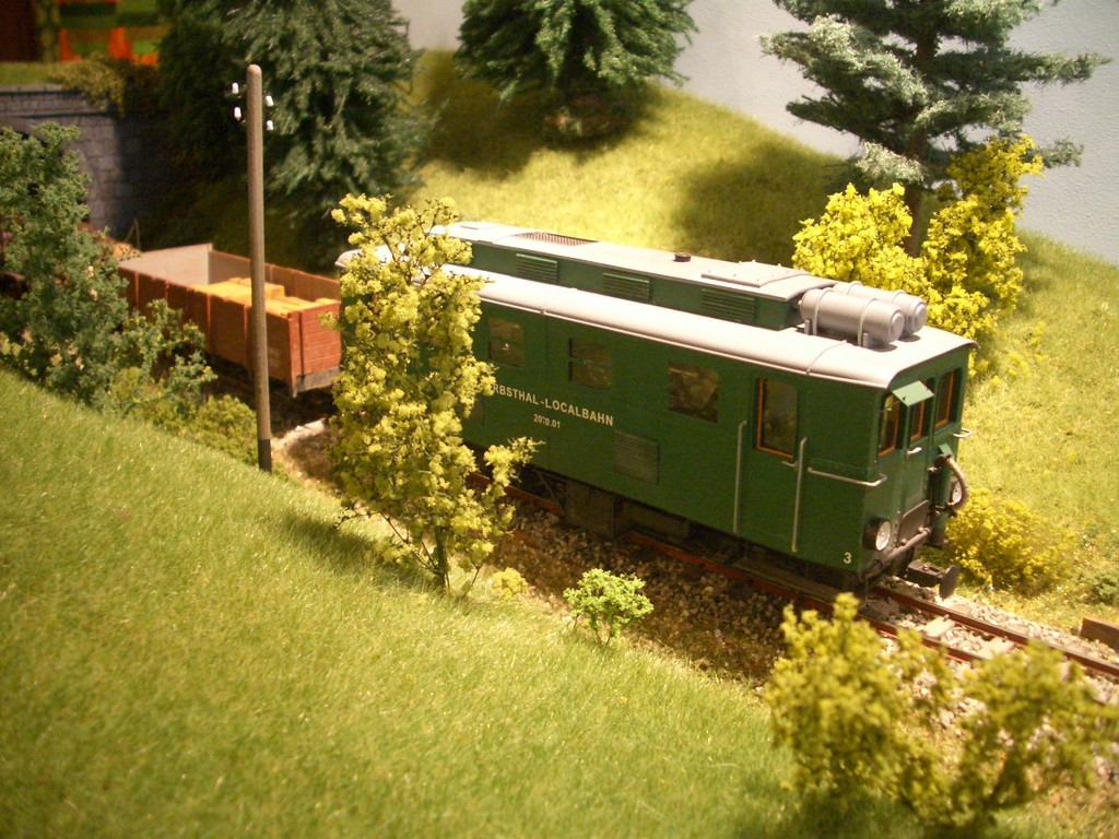 Die Diesellok 2071 auf der Strecke
